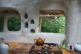 Cob House interior