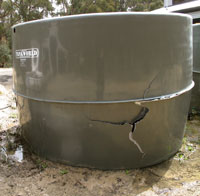 Cracked Water Tank